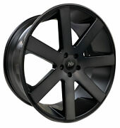 4 Four 26and039and039 K9 7198 26x10 Wheels Rims 6 And 5 Lug Chevy Dodge Ford Black Tint