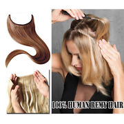 Any Colors 14 Halos Invisible Wire Headband 100 Remy Human Hair Extension 80g