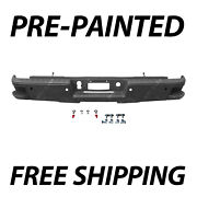 Painted To Match Rear Bumper Assembly For 2014-2018 Silverado And Sierra W/ Steps