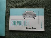 1960 Chevrolet Impala Original Owners Manual Gm 3770017 Promotional Plate