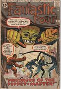 Fantastic Four 8 1961 Vol. 1 First Appearance Puppet Master