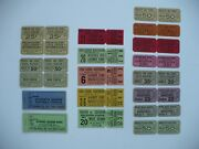 1930and039s Group Of Unusued High School Tickets Football Baseball Basketball Etc