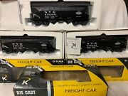 ✅k-line By Lionel Die Cast Nyc 2 Bay Real Coal Hopper 3 Car Set New York Central