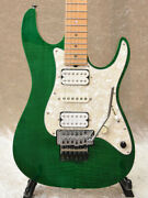 Used Dragonfly Hi-sta Green Japan Electric Guitars W/hc Free Shipping