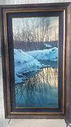 Winter Reflections Embellished Giclee On Canvas By Alexei Butirskiy