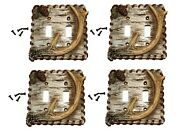 Double Light Switch Plate Covers Deer Antler Deer Hunter - 4 Items Bc-3