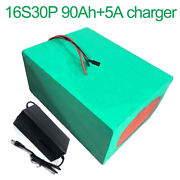 With 5a Charger 60v 90ah 16s30p Li-ion Battery Electric Motorcycle Bicycle Ebike