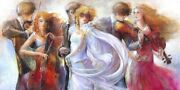 Lena Sotskova Just Love. Limited Edition Painting Giclee On Canvas Embellished