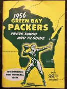 1956 Green Bay Packers Original Press And Radio Guide Program Bart Starr Rookie