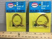 2 Model Power 1.5 Volts Packages Of Bulbs, Any-scale Buildings And More