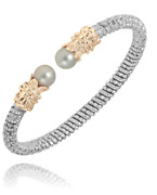 Alwand Vahan Pearl Cuff Bracelet 14k Gold And Ss Style 22137wp