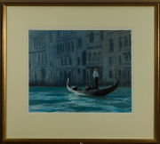 Roger Mcphail - Signed And Framed Contemporary Oil On The Grand Canal Venice