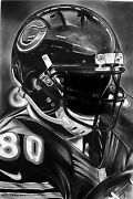 Chicago Bears Painting By Topps Artist Dave Hobrecht - Canvas Print