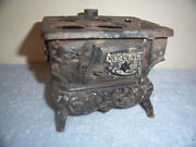 Vintage Crescent Miniature Cast Iron Toy Stove And Oven, Salesman Sample