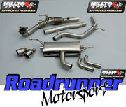 Milltek Golf Gti Mk6 Exhaust System Non Res Inc Cat And Downpipe 2 X 90mm Jet