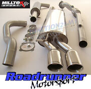 Milltek Golf 1.8t Mk4 Exhaust De Cat Downpipe And Cat Back Resonated Twin Gt80