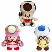 Super Mario Bros Captain Toadette Toad Toadsworth Stuffed Plush Doll Soft Toys