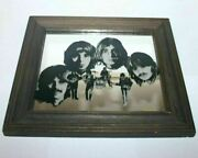 Vintage The Beatles Band Music Group Portrait Mirror Frame 1970s Old Collectible