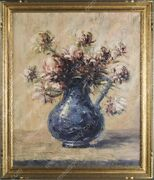 Rare Russian Leonid Gechtoff The Blue Pitcher Oil On Canvas 1938 Painting