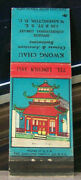 Vintage Matchbook Cover N4 Washington Dc Kwong Chau Opp Congressional Library