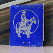 Vintage Matchbook S7 California Plymouth Cattlemen's Headquarters Pastime Cowboy