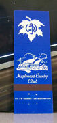 Vintage Matchbook Cover V7 Yonkers New York Maplewood Country Club Golf Golfing