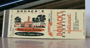 Vintage Matchbook Cover V7 St Louis Missouri Dohackand039s Barbecue Restaurant Drive