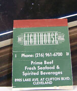 Rare Vintage Matchbook Cover H2 Cleveland Ohio Donand039s Lighthouse Grill Clifton