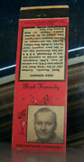 Vintage Matchbook Cover A3 Pittsburgh Pennsylvania New York Radio Reed Kennedy