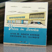 Vintage Matchbook Cover Y2 Chicago Illinois Drive In Cars St Paul Minnesota Bank