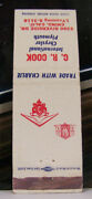 Rare Vintage Matchbook Cover K2 California Chino Cr Cook Chrysler Plymouth Cars