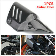 Motorcycle Bike Exhaust Pipe Carbon Fiber Cover Protector Heat Shield Anti-scald
