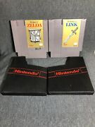 The Legend Of Zelda And The Adventures Of Link Nintendo Entertainment System Nes