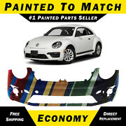 New Painted To Match Front Bumper Cover For 2013-2019 Volkswagen Vw Beetle 13-19