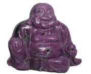 Hand Carved Ruby And Zoisite Buddha