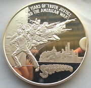 United States 1988 Supper Man 12oz Silver Medalrare