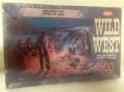 New Sealed Vntge Jaymar Jigsaw Puzzle Wild West Swappin' Lies Cowboy Campfire Us