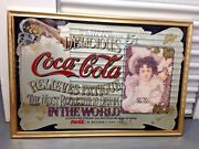 Coca Cola Large Mirror Picture In Frame - Bethpagelong Island Ny Pick Up Only