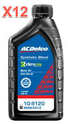 12 Quarts Motor Oil Acdelco Sae 5w20 Dexos1 Synthetic Blend Oem 88863912