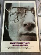 Straw Dogs 1972 Orig 1 Sheet Movie Poster 27x41 F/vf- Dustin Hoffman Classic