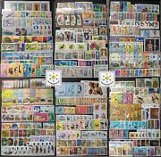 Worldwide Stamp Collection Mnh - 30 Full Sets From 30 Different Countries And Gift