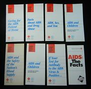Lot Of 8 1986 American Red Cross Early Educational Pamphlets On Aids Sex
