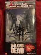 The Walking Dead Series 3 Michonne And Pet Zombies Signed Figure