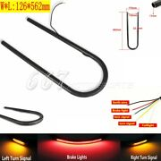 7/8 22mm Upswept Rear Seat Hoop Frame Loop Red/amber Led Taillight For Large Cc