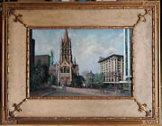 Rodney Symmons 1937- Large Original Oil Painting St Paul Cathedral Melbourne