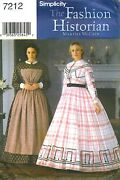 Wow Ms Civil War Dress Apron Gown Costume Sewing Pattern 14-20 Simplicity 7212