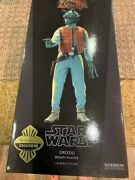Sideshow Exclusive Star Wars Greedo W/wanted Poster 1/6 Figure Brand New