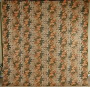 Museum Quality Vintage 1830and039s Whole Cloth Antique Quilt Glazed Chintz Fabric