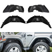 Front And Rear Inner Fender Liners For Jeep Wrangler 2018-2020 Jl Jlu Us Flag