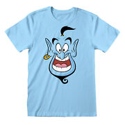 Mens Disney Aladdin T Shirt Genie Face Official Merchandise